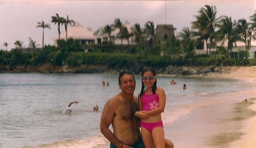 Here S My Dad And Little Sister Enjoying The Buccaneer Beach St Croix Beaches